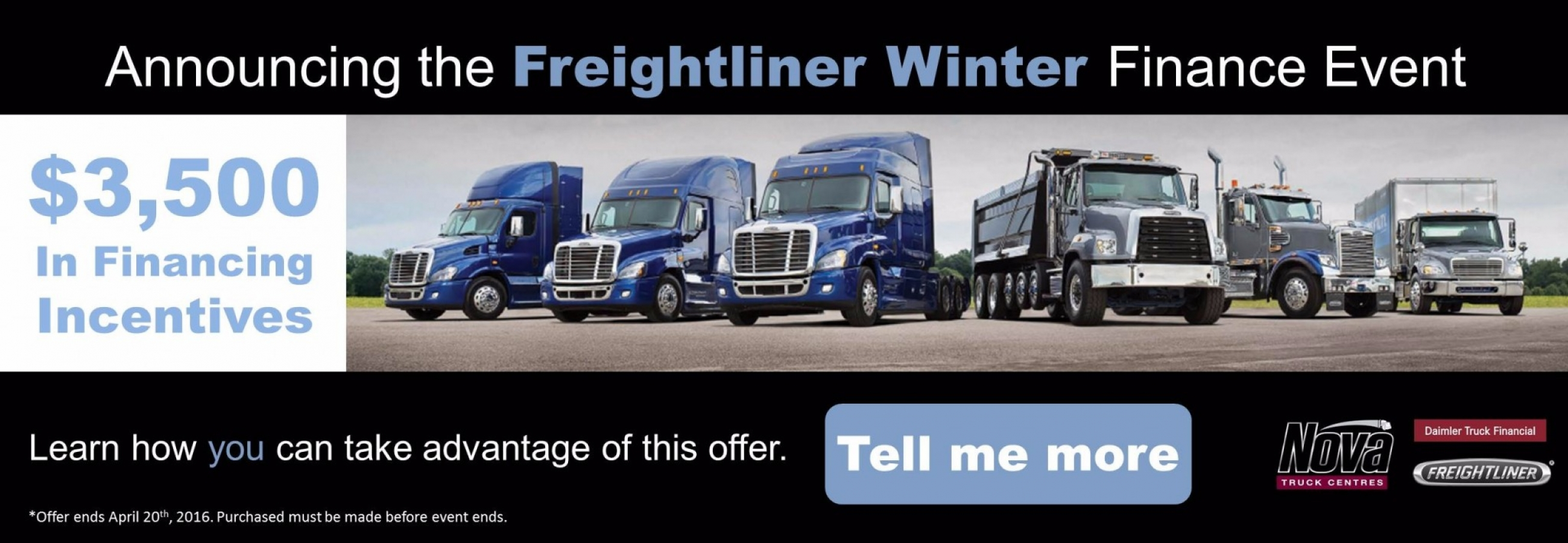 Nova Truck Centres Freightliner Winter Finance Event