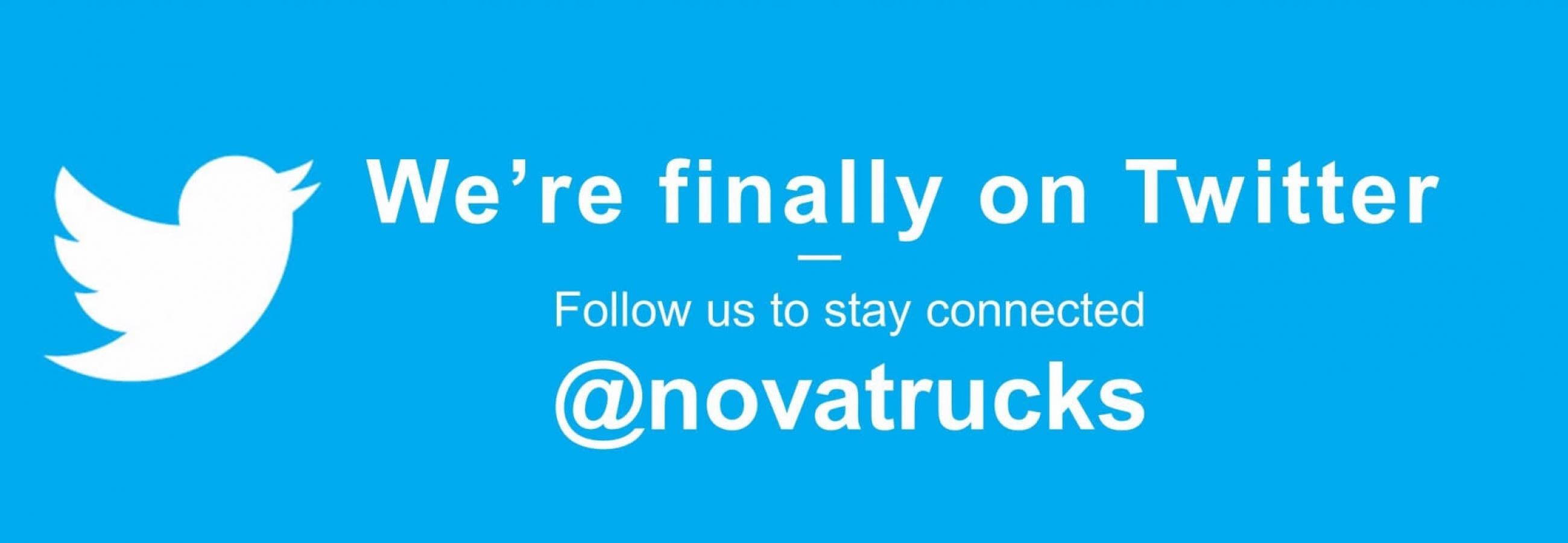 Nova Truck Centres is now on twitter @novatrucks