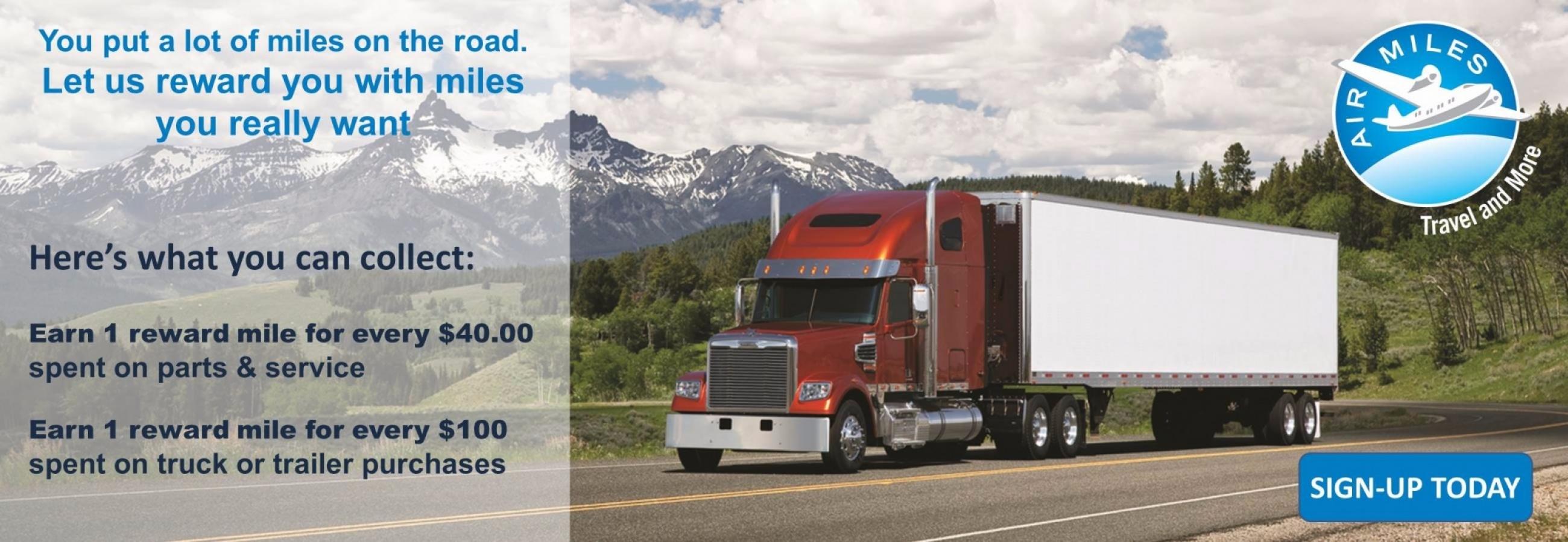Featured bonus airmiles reward miles offers for January 2016 | Nova Truck Centres
