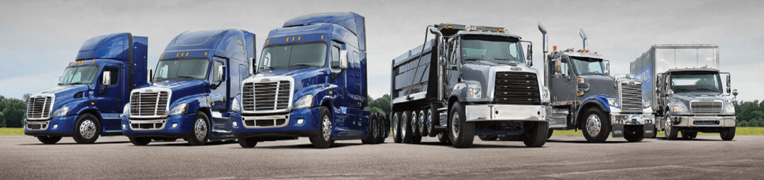 Freightliner line-up of trucks