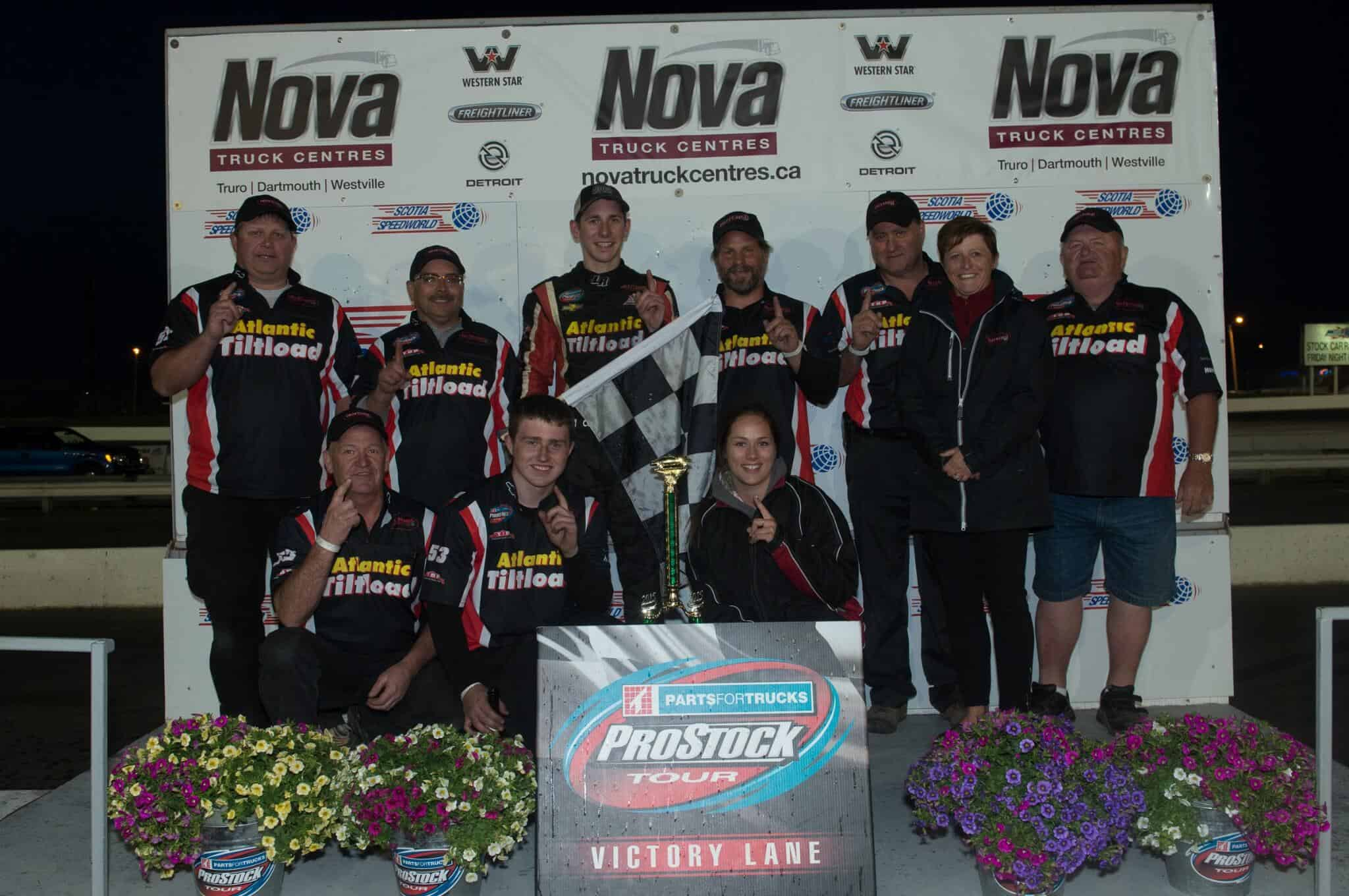 Butcher team shot on podium