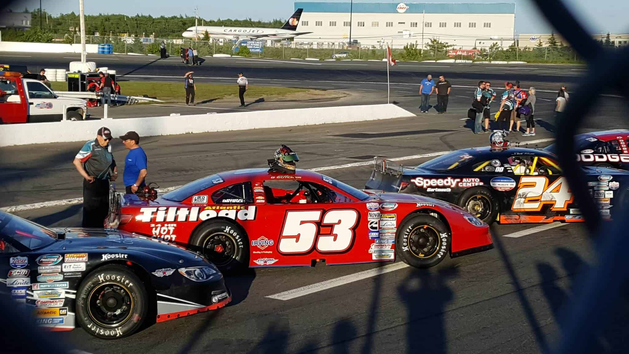 race cars lined up