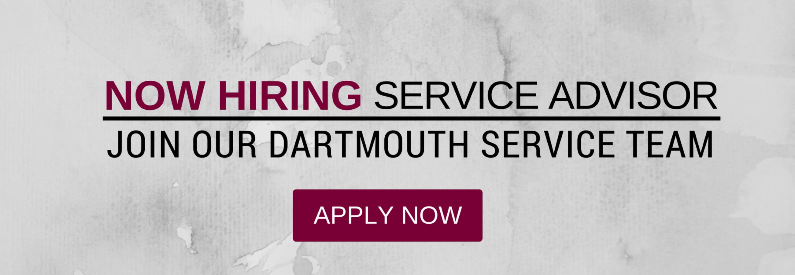 Recruitment_Service Advisor Dartmouth